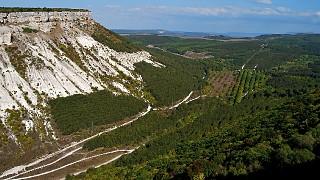 Вид на ущелье Ашлама-дере