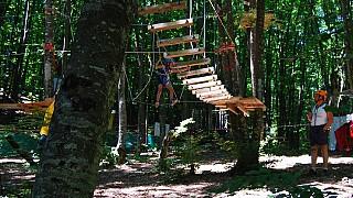 Веревочный парк приключений Sky Way в Большом каньоне. Детская трасса