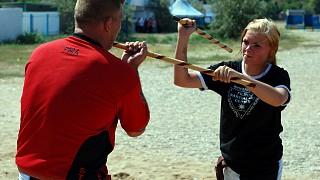 Мастер Томи Харол (Финляндия) демонстрирует различные техники