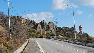 Ялтинская трасса. Перед горой дракон.