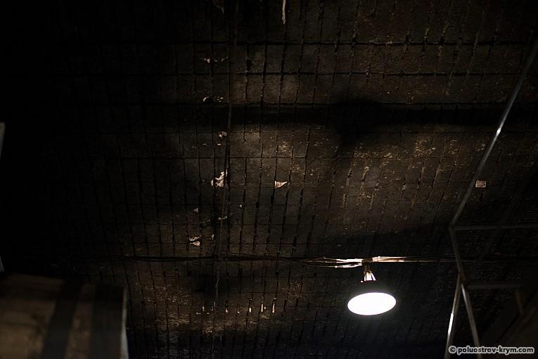Потолок винподвалов - бывших штолен
