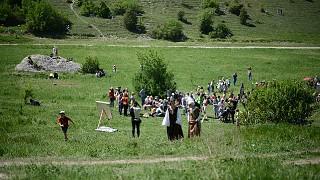 Средневековый лагерь на Эски-Кермен