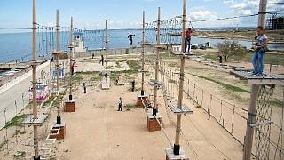 Парк с площадки третьего уровня