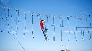 Один из самых сложных этапов 3его уровня - подвесные веревочные петли