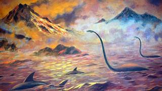 Иллюстрация к легенде о карадагском змее