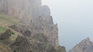 Прибрежные скалы Карадага