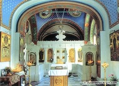 Внутреннее убранство Ливадийской церкви