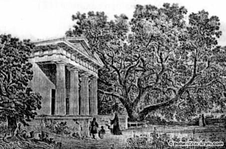 Церковь Иоанна Предтечи в Массандре. 40-е годы XIX в. С гравюры К. Боссоли
