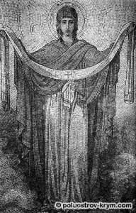 Фрагмент алтарной иконы в Покровском храме Ореанды