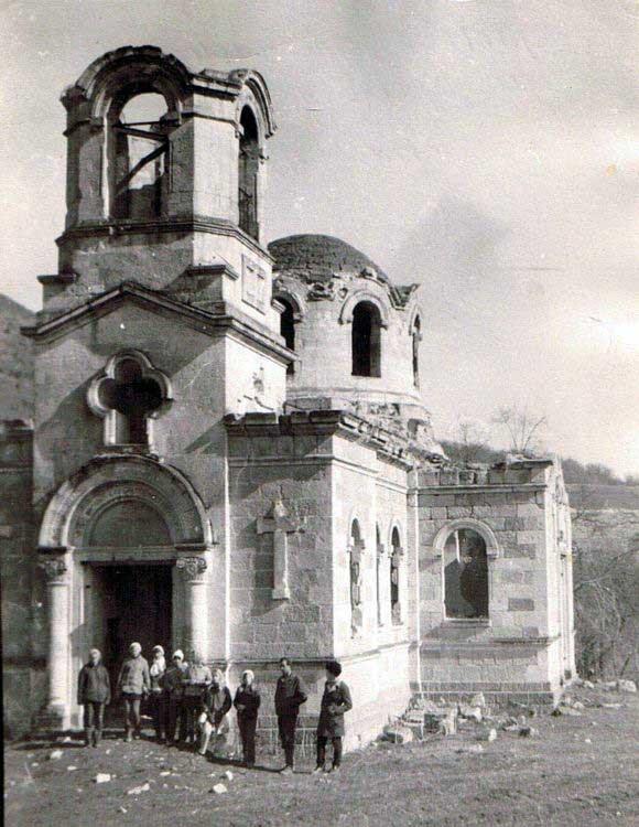 Церковь Луки Евангелиста. Деревня Лаки (Горянка). 1975 год. Автор фото Олег Гусаров