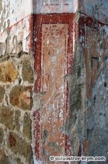 Остатки росписи храма св. Луки в селе Лаки. Автор фото Ольга Иутина