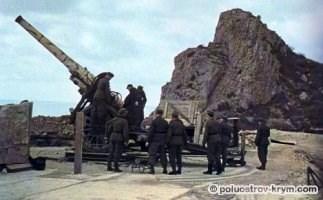19 береговая батарея, 1942 год. Фото с  сайта www.project-nomad.ru