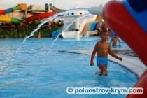 Детские аттракционы в аквапарке