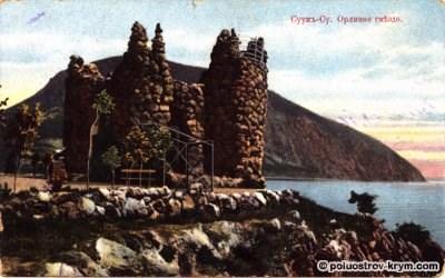 Суук-Су. Орлиное гнездо. Открытка начала XX века