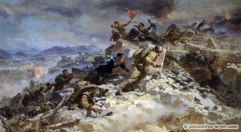"""П. Мальцев. """"Штурм Сапун-горы"""". 1956-1957 гг."""